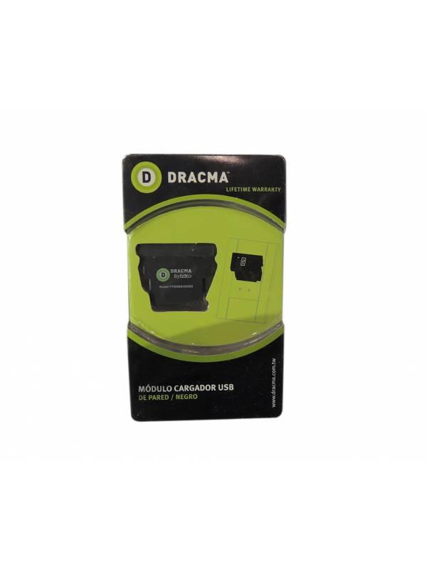 Modulo cargador USB de pared negro