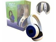 Auricular con reproductor MP3 blanco