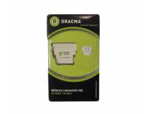 Modulo cargador USB de pared blanco