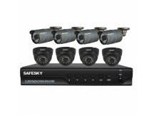 Kit Safesky DVR AHD + 8 camaras AHD + accesorios