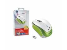 Mouse Genius Micro Traveler Blanco y verde