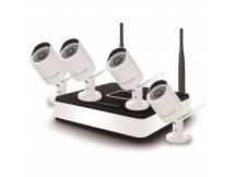 Kit Safesky Mini NVR Wifi + 4 camaras IP Wifi exteriores