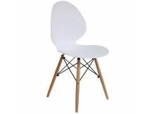 Silla tipo Adelaide base Eames blanca