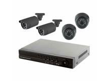 Kit safesky DVR + 4 camaras + accesorios