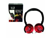 Auriculares Stereo Roca color Rojo