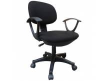 Silla de escritorio con posabrazo negro