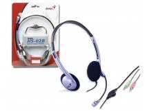 Auriculares Genius con microfono azul