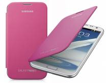 Estuche flip case Samsung Galaxy note ii rosado