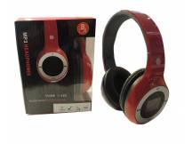 Auricular con reproductor MP3 micro SD rojo