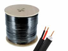 Cable siames coaxil + corriente 100m