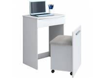 Escritorio con tocador y silla blanco