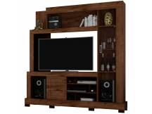 Rack Cristal para TV color rustico malbec