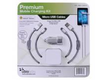 Cargador Ubio Labs Pared Auto con 2 cables