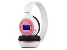 Auricular con reproductor MP3 blanco y rosa
