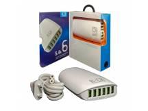 Cargador inteligente 6 USB 5.4A