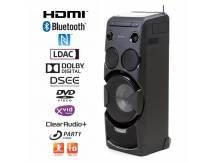 Minicomponente Sony HDMI, Bluetooth, USB, DVD/CD, radio.