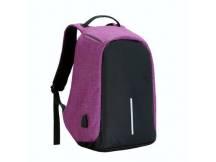 Mochila anti robo 14 colores negro-purpura