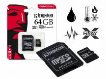 Memoria Micro SDHC/SDXC Kingston Canvas 64GB clase 10