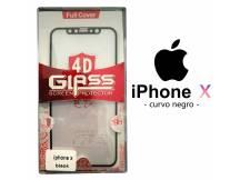 Vidrio Templado Apple iPhone X Curvo negro