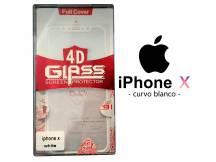 Vidrio Templado Apple iPhone X Curvo blanco