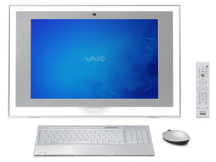 All in One Sony Vaio C2D 2.5Ghz, 4GB, 128SSD + 500GB, 22, Blu ray