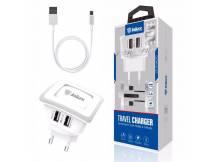 Cargador p/Viaje Inkax c/Cable MicroUSB 2.1A