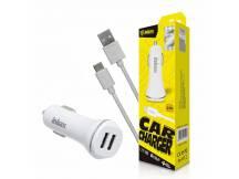 Cargador auto Dual Inkax c/cable Micro USB 2.1A