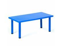 Mesa de plástico rectangular azul