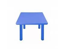 Mesa de plástico cuadrada niños azul