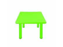Mesa de plástico cuadrada niños verde