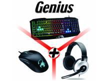Combo Genius teclado + mouse + auricular