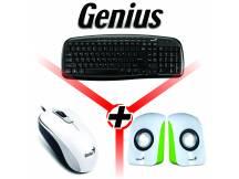 Combo Genius teclado + mouse + parlantes