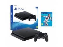 Consola Playstation 4 1TB Slim negra + FIFA 19