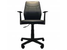Silla alta negra de escritorio