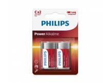 Pila Alcalina Philips C x2