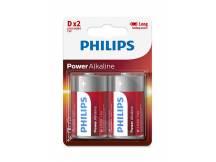 Pilas alcalinas Philips D x2