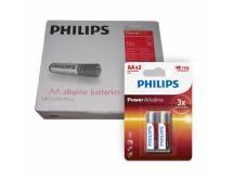 Pack de 12 blister de pilas alkalinas Philips AA X2 unidades