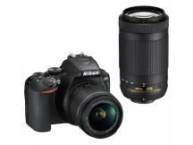 Camara Nikon D3500 24MP, Lente 18-55mm y 70-300mm