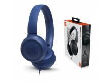 Audifono JBL Tune 500 azul c/microfono