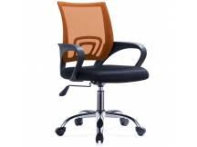 Silla de oficina Ezri Mesh con posabrazos naranja