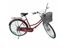 Bicicleta Vintage rodado 26 Rojo