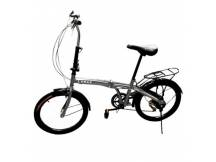 Bicicleta plegable gris rodado 20