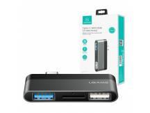 HUB USB mini USAMS Tipo C 2 USB + MicroSD