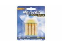 Pila alkalina Novacell AA 1.5v X 4 unidades