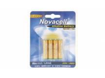 Pila alkalina Novacell AAA 1.5v X 4 unidades