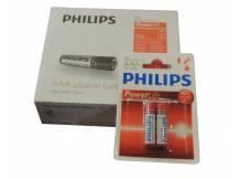 Pack de 12 blister de Pilas alcalinas Philips AAA X 2 unidades
