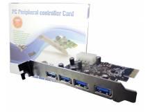 Tarjeta 4 puertos USB 3.0 PCI-EXPRESS